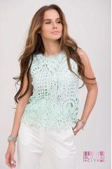 Блузка (цвет - зеленый)