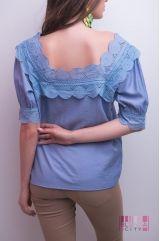 Блузка (цвет - синий)