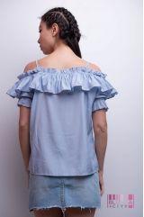 Блузка (колір - блакитний)