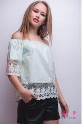 Блузка (колір - зелений)