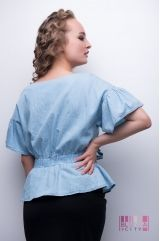 Блузка (цвет - голубой)