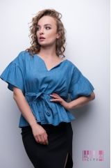 Блузка (колір - синій)