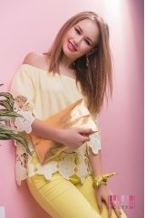 Блузка (цвет - желтый)