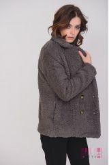 Пальто (цвет - темно-серый)