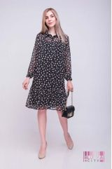 Платье (цвет - черный)