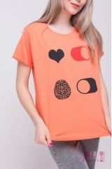 Футболка (цвет - оранжевий)