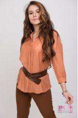 Блузка (цвет - коричневый)