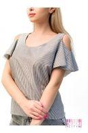 Блузка (цвет - серый)