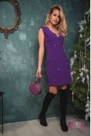 Платье (цвет - фиолетовый)