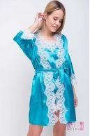 Халат (цвет - голубой)